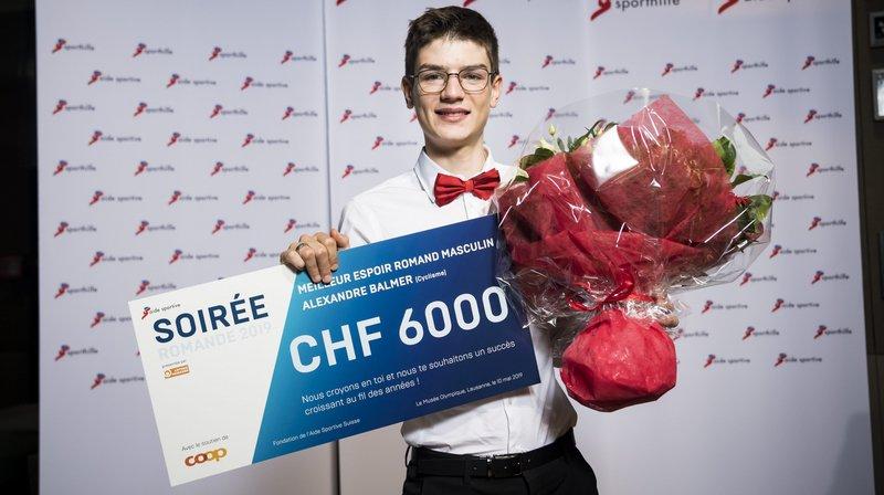 Alexandre Balmer reçoit une nouvelle récompense.