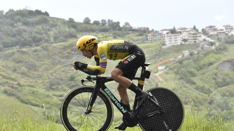 Cyclisme - Tour d'Italie: le Slovène Primoz Roglic remporte le contre-la-montre de Saint-Marin