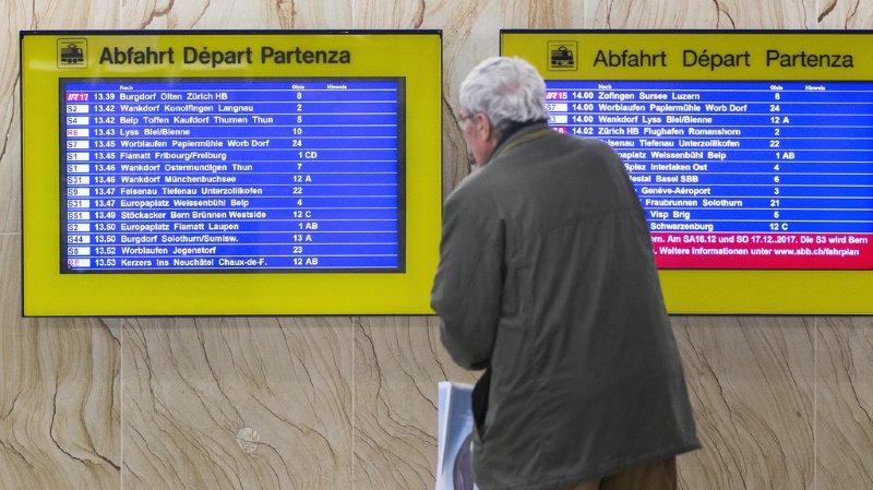 CFF: le trafic ferroviaire est interrompu entre Bienne et Berne après un déraillement
