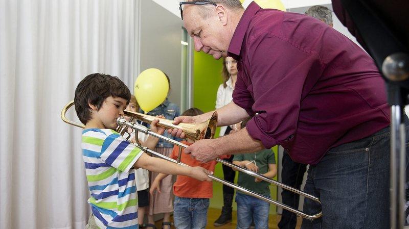 Les portes ouvertes du conservatoire étaient l'occasion de tester de nombreux instruments.