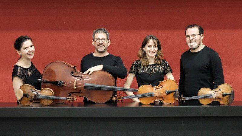 Quatuor Terpsycordes; Lionel Monnet, piano; Irina-Kalina Goudeva, contrebasse