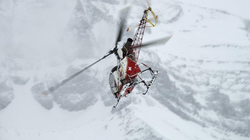 La victime de l'avalanche de Bagnes avait été héliportée à l'hôpital de Sion.