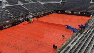 Tennis: la pluie perturbe le tournoi de Rome