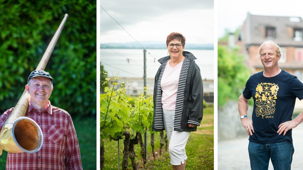 Les trois Neuchâtelois Christian Gurtner, Chantal Forestier et Jean-Denis Perrochet se rendront à Vevey pour la Fête des vignerons.