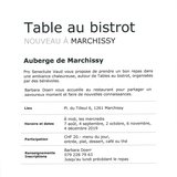 Table au bistrot à Marchissy