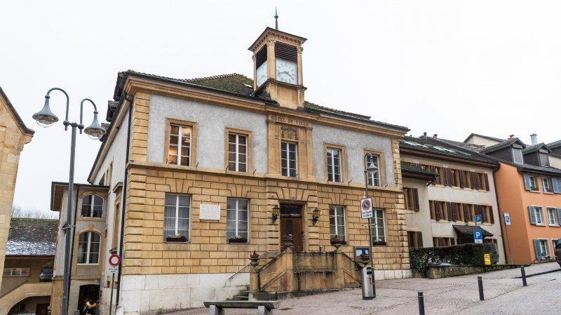 L'hôtel de ville de Boudry, où s'est tenu le Conseil général de ce lundi 24 juin.