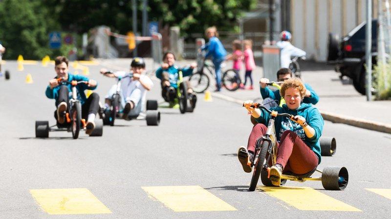 Les plus jeunes s'en sont donné à coeur joie en trike, un tricycle sportif.