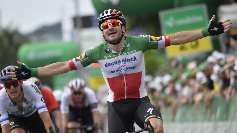 Elia Viviani a remporté la 4e étape du Tour de Suisse entre Morat et Arlesheim (164,4 km) mardi.