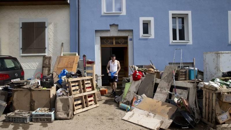 Val-de-Ruz: les habitants constatent l'ampleur du désastre