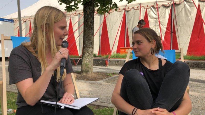 """Emilie Zoé à Festi'neuch: """"Il faut que cette journée de grève ait lieu"""""""