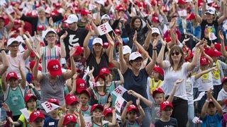 Plus de 5000 écoliers pour le coup d'envoi des célébrations du 40e anniversaire du Jura