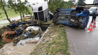 Neuchâtel: quatre blessés dont un grave dans les violents orages qui ont touché le Val-de-Ruz
