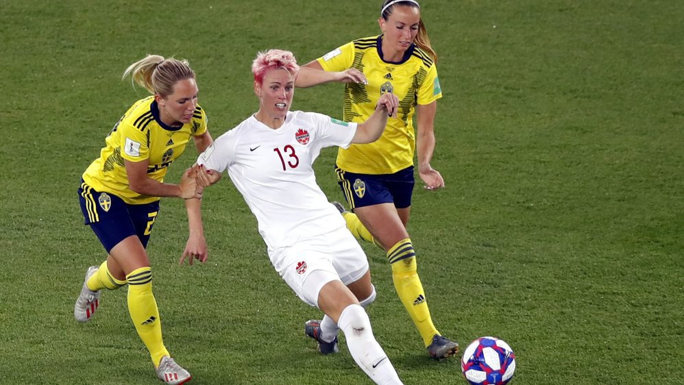 Le match entre la Suède et le Canada s'est joué au Parc des Princes in Paris lundi.