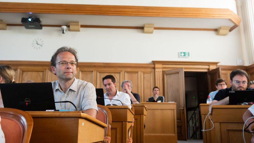 Théo Bregnard, Cédric Dupraz et Fabio Bongiovanni, de gauche à droite, députés et conseillers communaux.