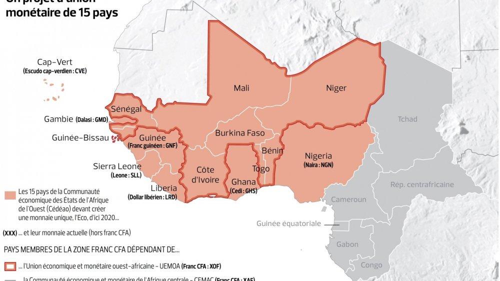 L'éco, future monnaie d'Afrique de l'Ouest