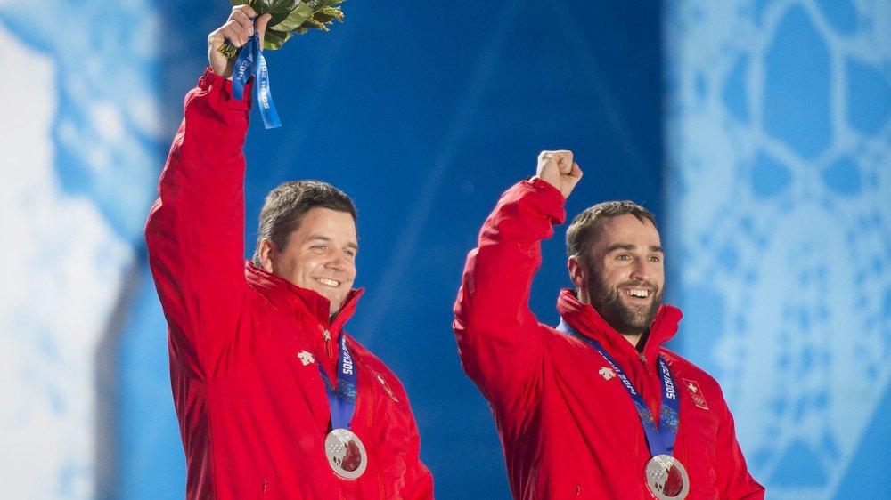 Beat Hefti (ici à gauche) et son coéquipier vont pouvoir toucher l'or olympique dès ce soir.
