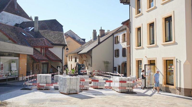 Les travaux au centre de Saint-Blaise devraient pouvoir s'achever. Le Conseil général a accepté jeudi de rallonger le crédit.