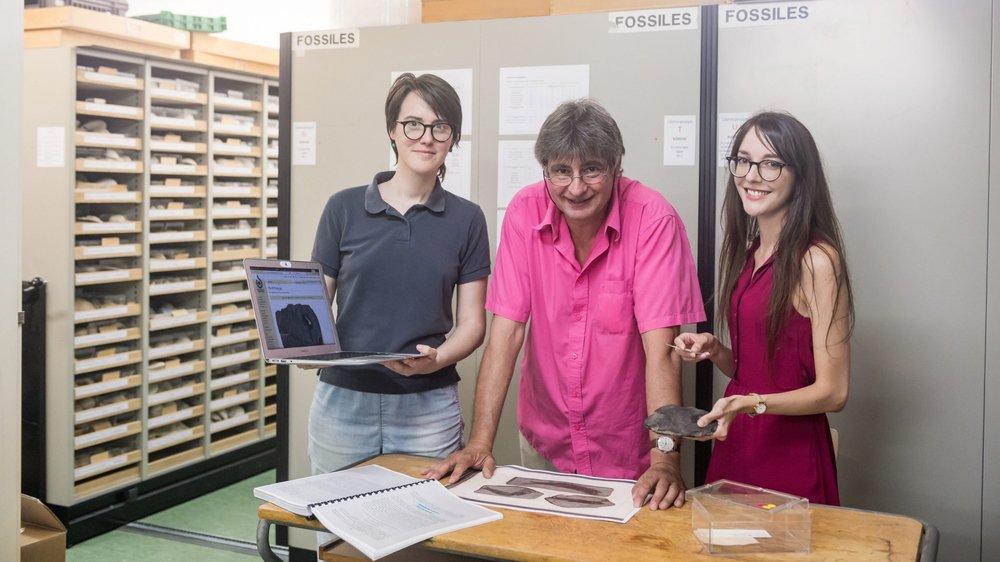 Flor Méchain (Wikimedia CH) a assisté le conservateur Thierry Malvesy et la paléontologue Laure Bapst pour mettre en ligne informations et photos de la collection de poissons fossiles de Louis Agassiz, conservée à Neuchâtel.