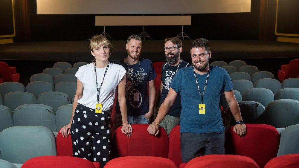 Rachel Perrin, Mathieu Vautravers, Sebastian Gautsch et Jonas Vautravers (de g. à dr.) sont fans du Nifff depuis des années.