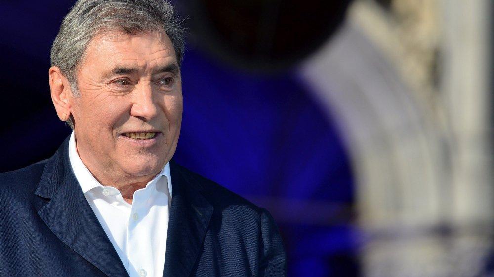 Eddy Merckx est à l'honneur à l'occasion du départ du Tour à Bruxelles.