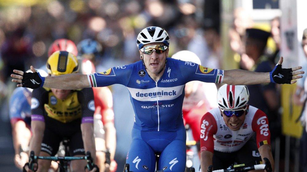 Elia Viviani n'avait jamais gagné sur le Tour. C'est désormais chose faite.