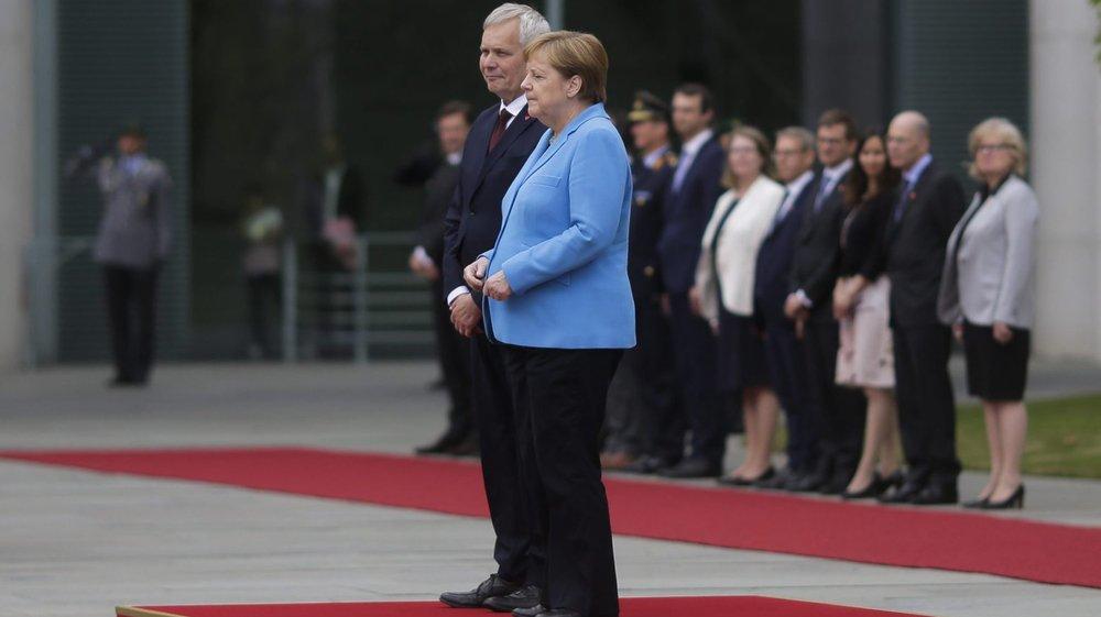 La chancelière a tremblé, alors qu'elle recevait le premier ministre finlandais.
