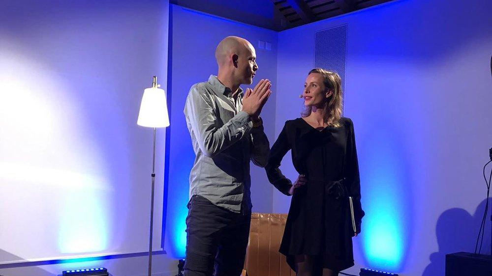 Jérémie Kisling et Mélanie Chappuis sur scène.