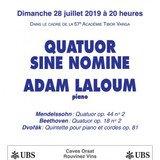Le Quatuor Sine Nomine & Adam Laloum, piano