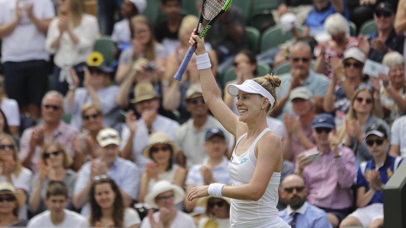 Après Belinda Bencic, Alison Riske a battu Ashleigh Barty à Wimbledon.
