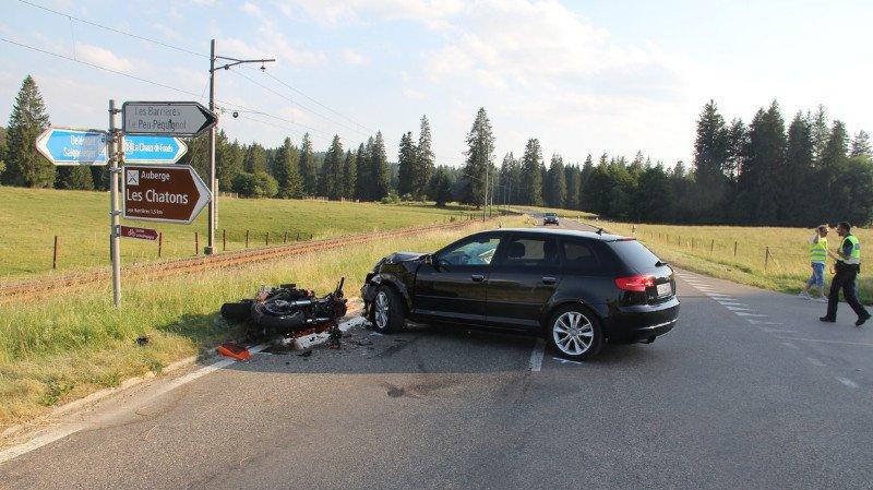 Accident routier: un motard gravement blessé lors d'une collision dans le Jura