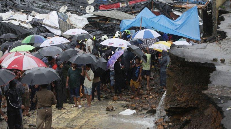 Inde: un mur s'effondre sous les pluies, 15 morts