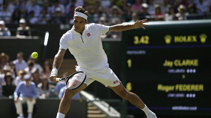 Tennis – Wimbledon: Federer rassure et se qualifie pour les 16es de finale