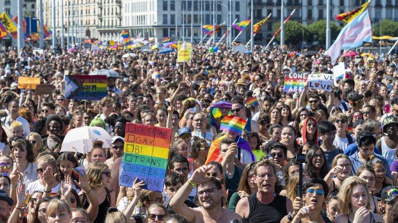 35'000 personnes ont célébré la fierté homosexuelle à Genève