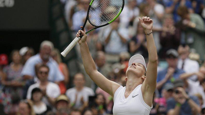 Simona Halep a battu l'Ukrainienne Barbora Strycova jeudi en demi-finale de Wimbledon.