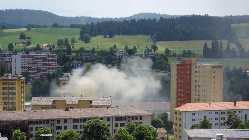 Début d'incendie dans une tranchée à La Chaux-de-Fonds