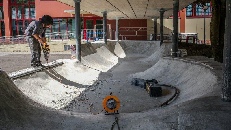 Poursuite des travaux au skatepark la semaine prochaine.