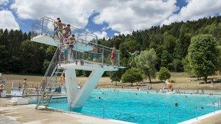 Jour de fête à la piscine de Boveresse