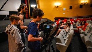 Des ados s'improvisent cinéastes pendant le Nifff