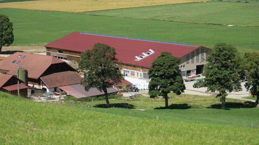 La ferme Menoud, à Môtiers, photographiée en 2013.