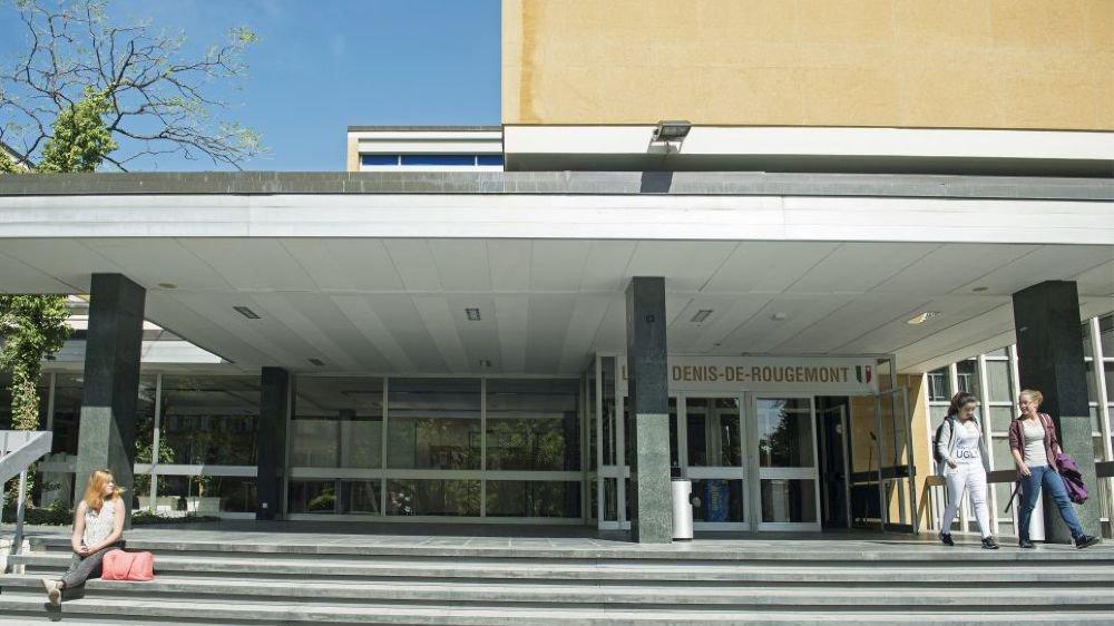 """Le """"nouveau"""" bâtiment du lycée Denis-de-Rougemont, à Neuchatel, doit être assaini en priorité."""