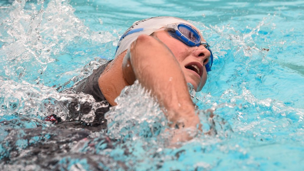 La natation reste le point faible de Joanna Ryter (ici au triathlon de La Chaux-de-Fonds en 2017).