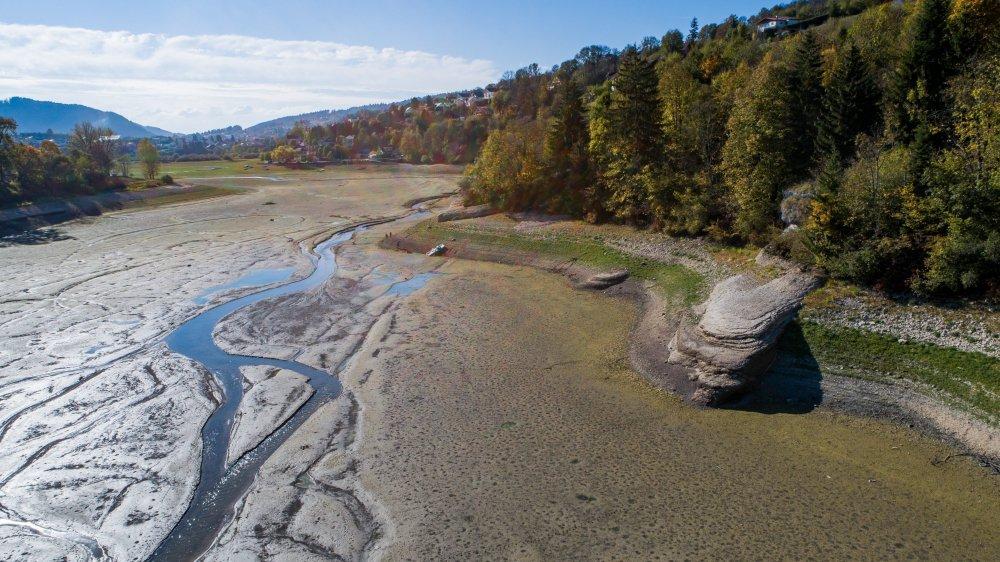Le Doubs asséché, photographié en octobre 2018.