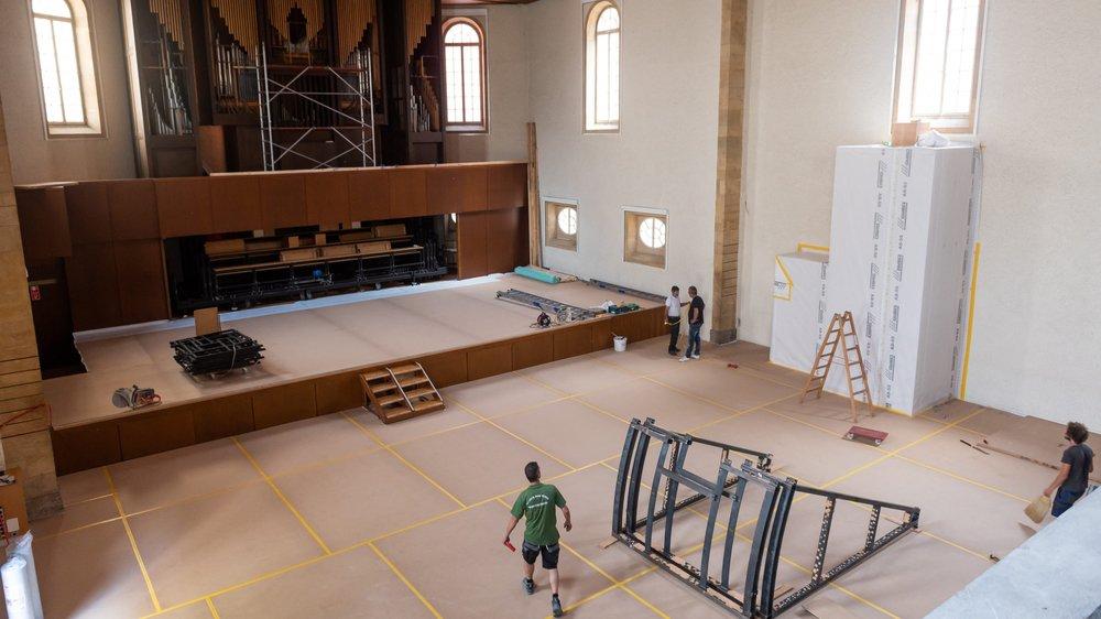 Les travaux au temple du Bas ont débuté à la mi-juillet.