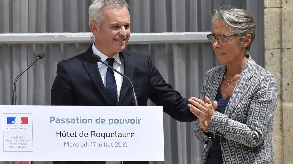 François de Rugy a transmis hier son ministère, l'Ecologie, à Elisabeth Borne.