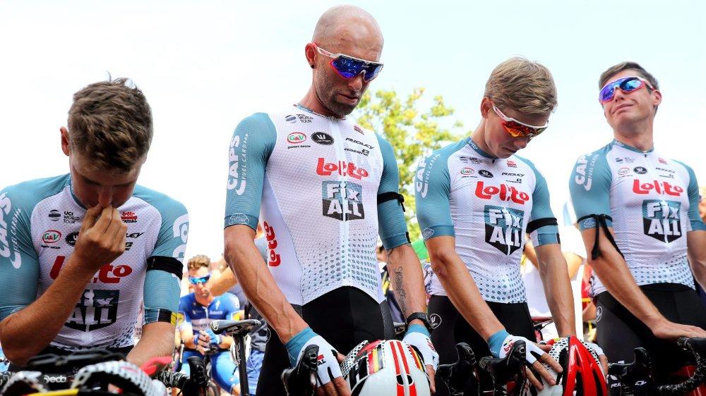 Derrière les coéquipiers de Bjorg Lambrecht, c'est tout le peloton du Tour de Pologne qui a rendu homme au Belge.