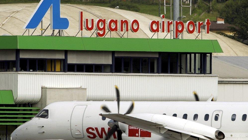 Le seul vol de ligne depuis l'aéroport de Lugano est la liaison avec Zurich opérée par Swiss.