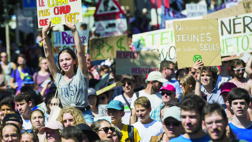 Certains slogans affichés au cours de la manifestation à Lausanne ne manquaient pas d'humour.