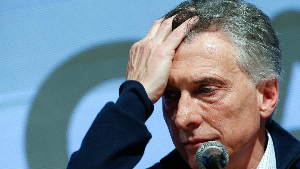 Mauricio Macri a le visage des mauvais jours