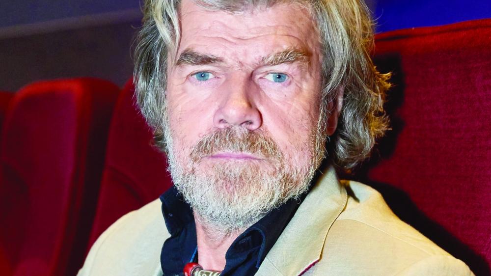 Reinhold Messner, qui fut le premier à gravir l'Everest sans oxygène, a présenté son film aux Diablerets.