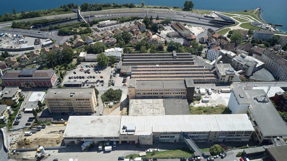 Le quartier de Tivoli: en bas à gauche, le chantier a commencé côté rue de Maillefer; au centre de l'image, l'immeuble Tivoli 28 qui sera rénové. Au sud de la rue de Tivoli, l'autre projet immobilier est actuellement en attente.